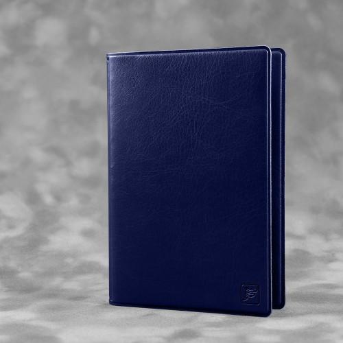 Обложка для паспорта с RFID-блокировкой, цвет темно-синий classic