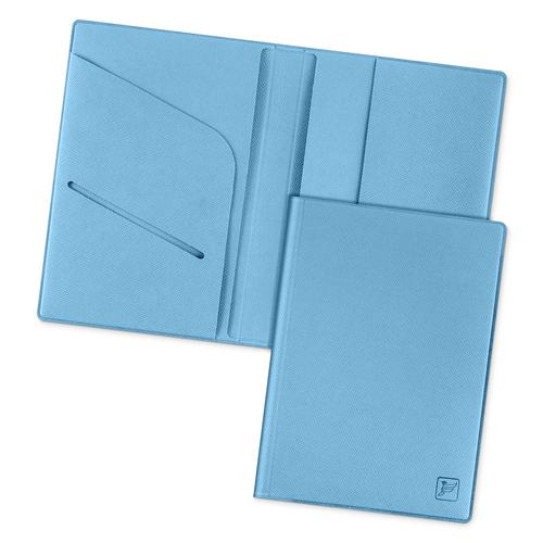 Обложка для паспорта - премиум, цвет голубой