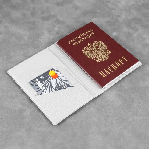 Обложка для паспорта - премиум, цвет белый