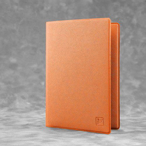 Обложка для паспорта - премиум, цвет оранжевый