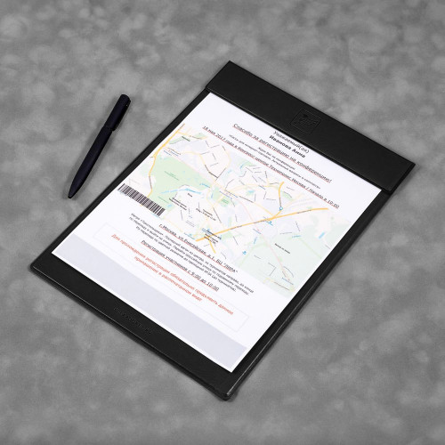Папка планшет на магнитах, цвет черный classic