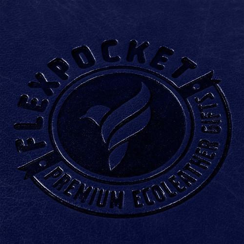 Папка планшет на магнитах, цвет темно-синий classic