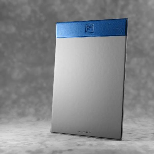 Папка планшет на магнитах, цвет темно-синий
