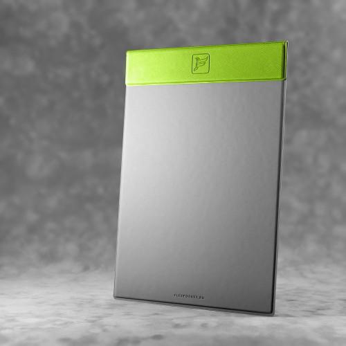 Папка планшет на магнитах, цвет зеленый