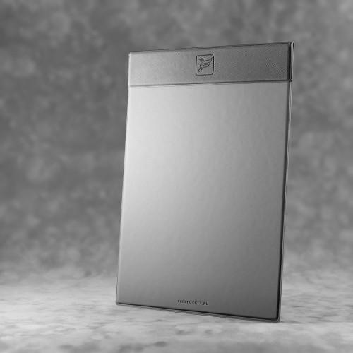 Папка планшет на магнитах, цвет серый