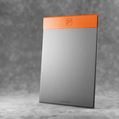 Папка планшет на магнитах, цвет оранжевый