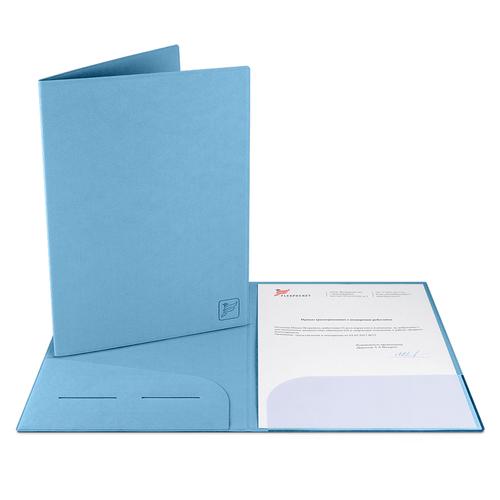 Папка классическая, цвет голубой