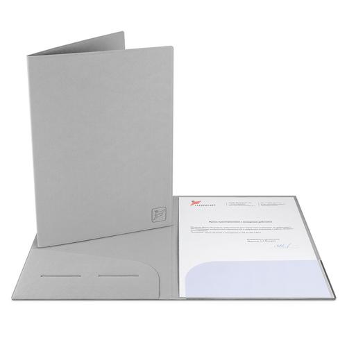 Папка классическая, цвет светло-серый
