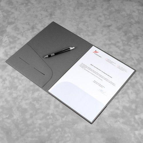 Папка классическая, цвет серый