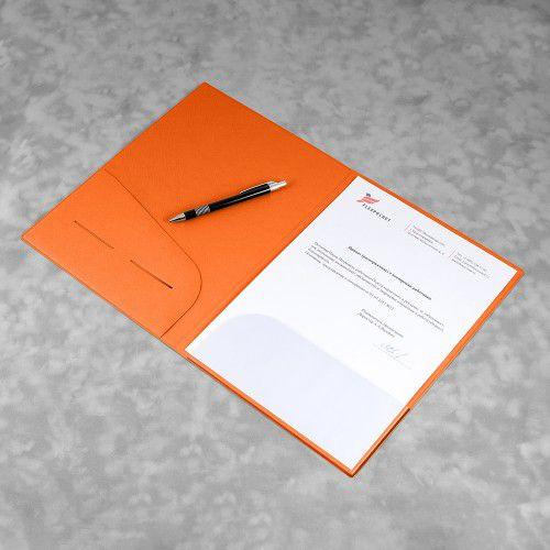 Папка классическая, цвет оранжевый