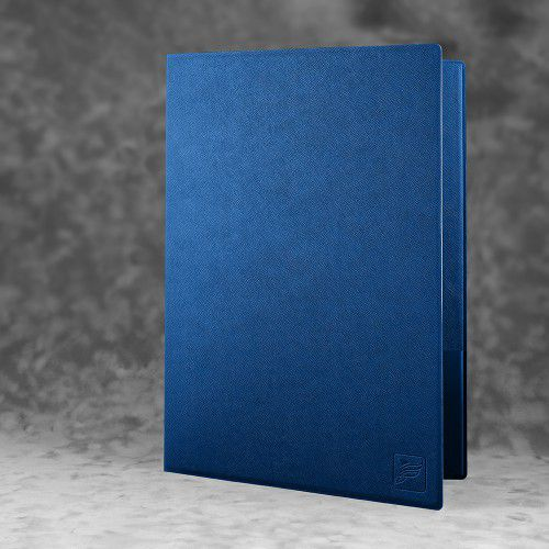 Папка классическая, цвет темно-синий