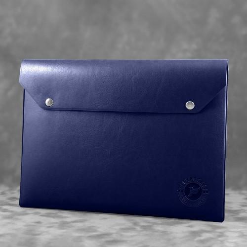 Папка-конверт на двух кнопках, цвет темно-синий classic