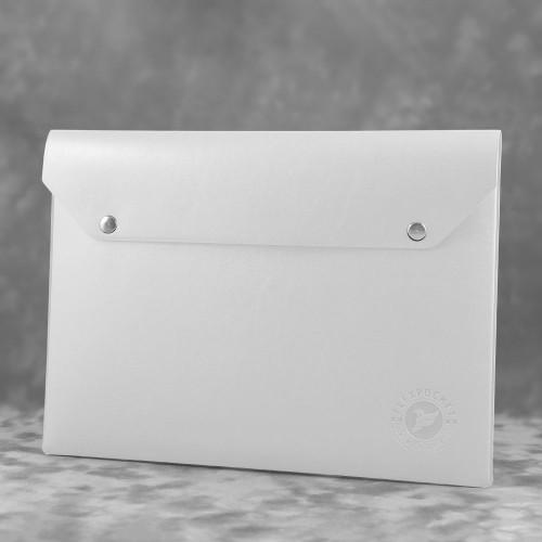 Папка-конверт на двух кнопках, цвет белый classic