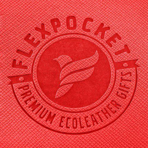 Папка-конверт на двух кнопках, цвет красный