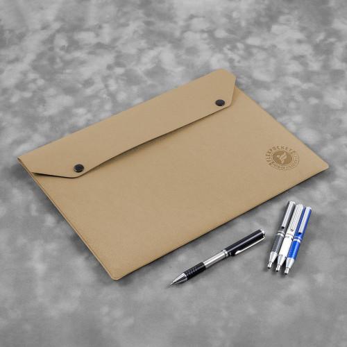 Папка-конверт на двух кнопках, цвет бежевый