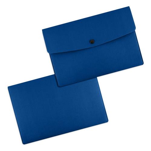 Папка-конверт на кнопке, цвет синий