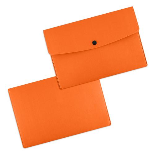 Папка-конверт на кнопке, цвет оранжевый