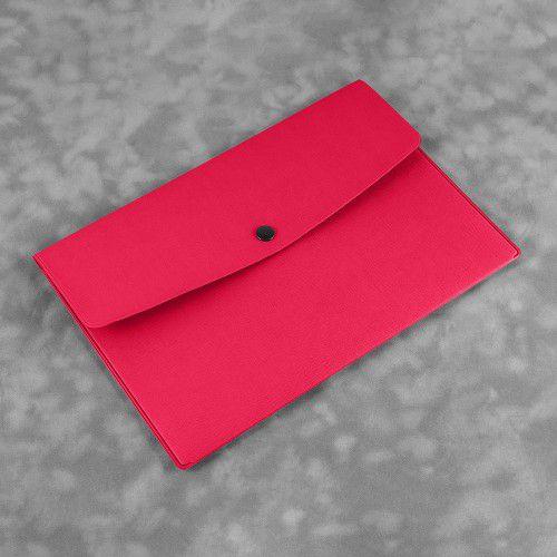 Папка-конверт на кнопке, цвет маджента