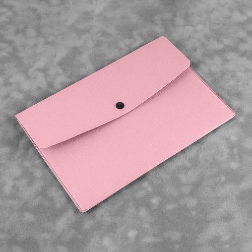 Папка-конверт на кнопке, цвет розовый