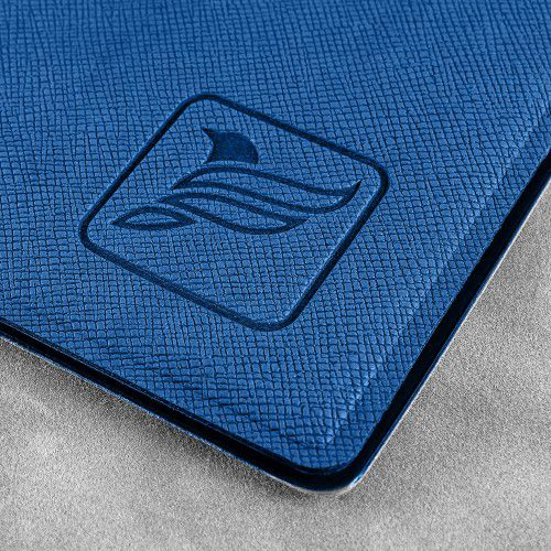 Папка-конверт на кнопке, цвет темно-синий