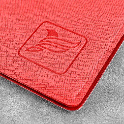 Папка-конверт на кнопке, цвет красный
