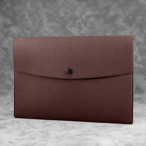 Папка-конверт на кнопке, цвет коричневый