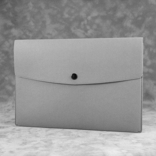 Папка-конверт на кнопке, цвет светло-серый