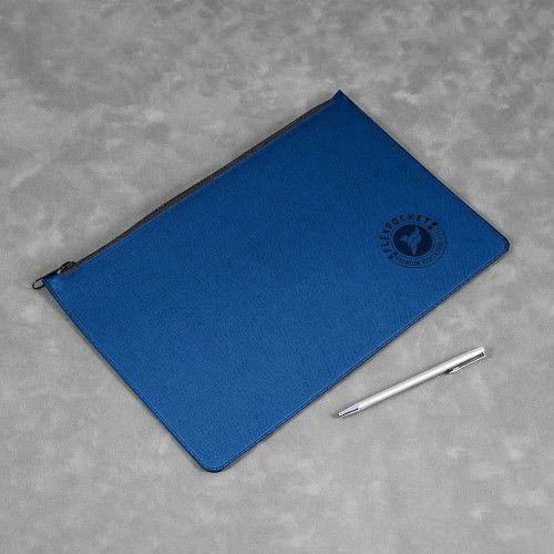 Папка на молнии, цвет темно-синий