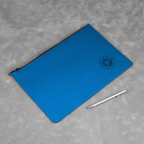 Папка на молнии, цвет синий