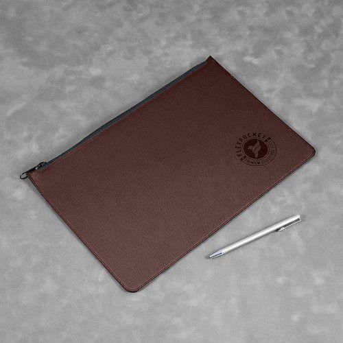 Папка на молнии, цвет коричневый