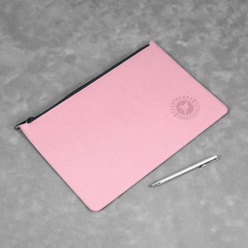 Папка на молнии, цвет розовый