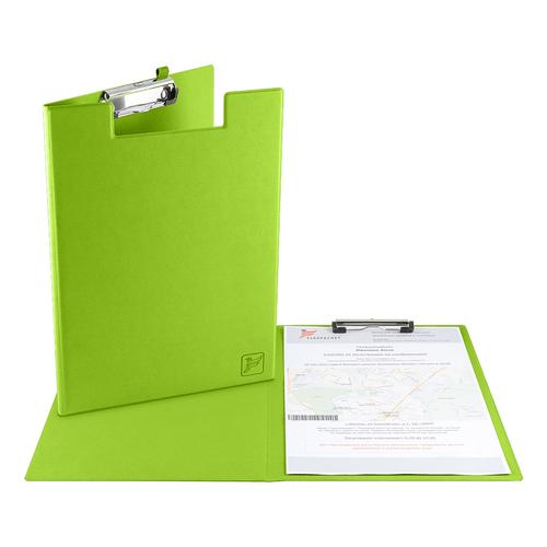 Папка планшет с крышкой, цвет зеленый