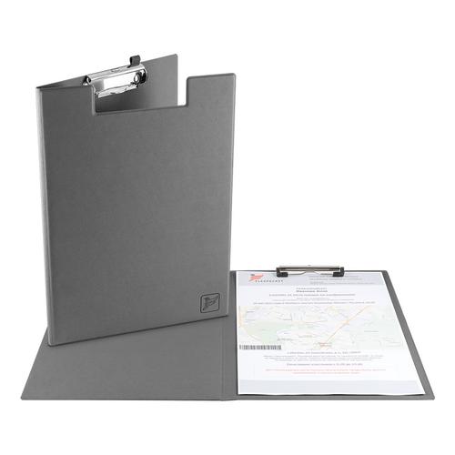 Папка планшет с крышкой, цвет серый