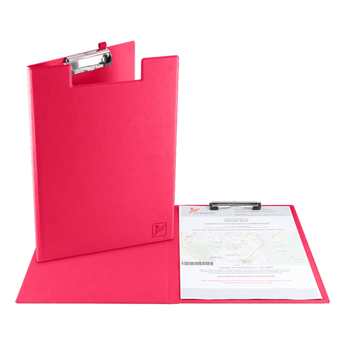 Папка планшет с крышкой, цвет маджента