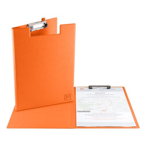 Папка планшет с крышкой, цвет оранжевый