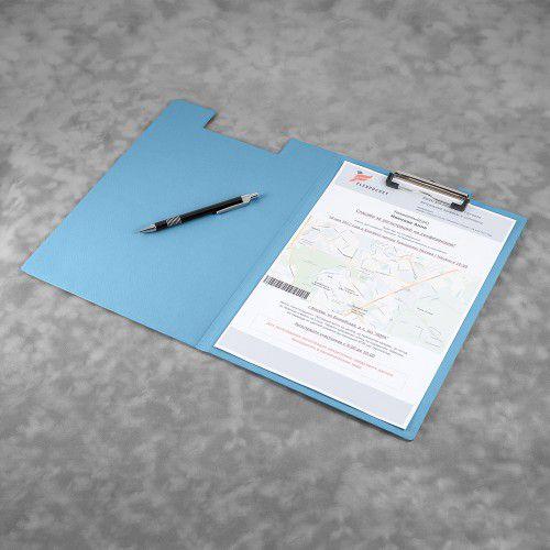 Папка планшет с крышкой, цвет голубой