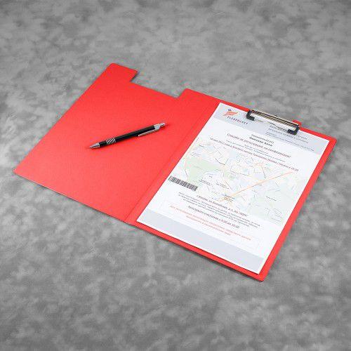Папка планшет с крышкой, цвет красный