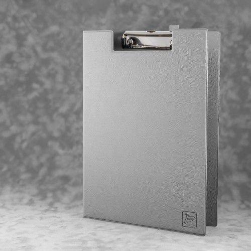 Папка планшет с крышкой, цвет светло-серый