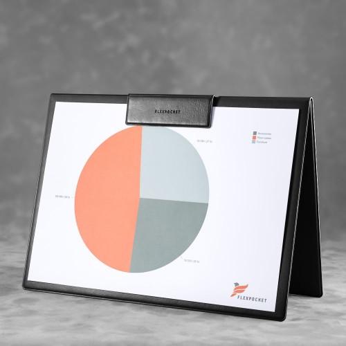 Папка-планшет с магнитным держателем, цвет черный classic