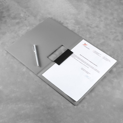 Папка-планшет с магнитным держателем, цвет черный