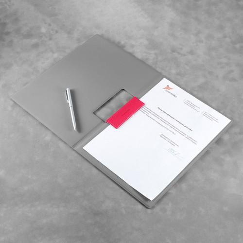 Папка-планшет с магнитным держателем, цвет маджента