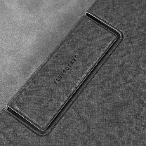 Папка-планшет с магнитным держателем, цвет серый