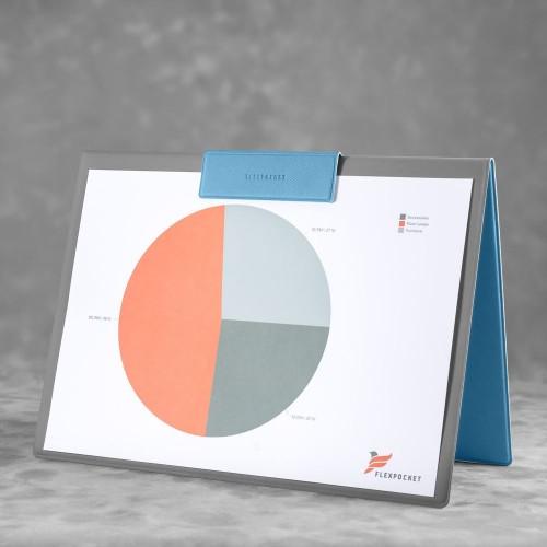 Папка-планшет с магнитным держателем, цвет голубой