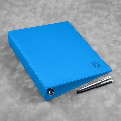Папка на кольцах, цвет синий