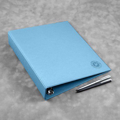 Папка на кольцах, цвет голубой