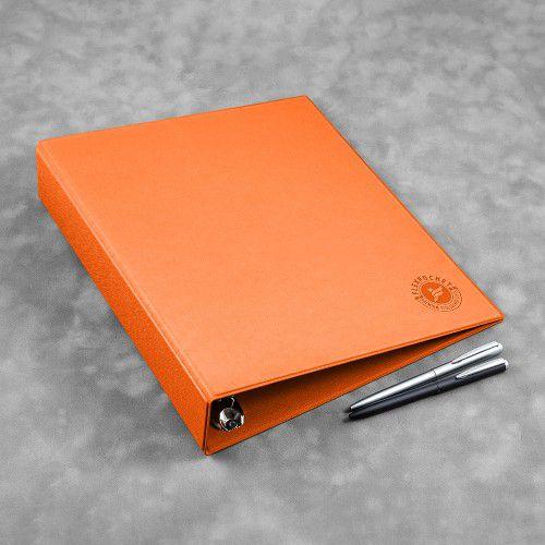 Папка на кольцах, цвет оранжевый