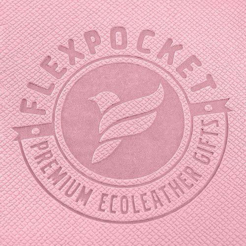 Папка на кольцах, цвет розовый