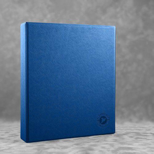 Папка на кольцах, цвет темно-синий