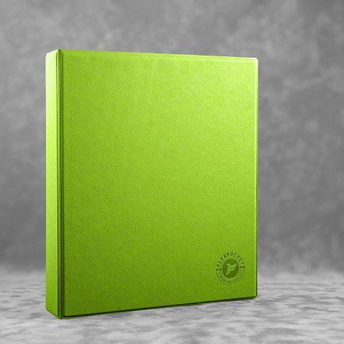 Папка на кольцах, цвет зеленый