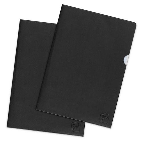 Папка-уголок, цвет черный